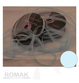Central Craft Collection 3mm Ribbon Organza Baby Blue