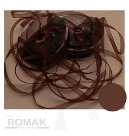 Central Craft Collection Ribbon Organza 6mm Brown