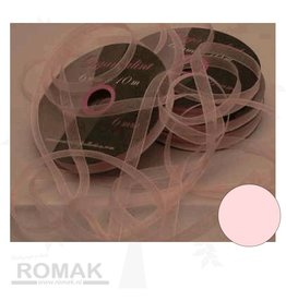Central Craft Collection 6mm Ribbon Organza Baby Pink