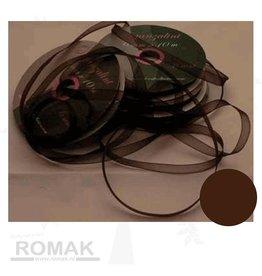 Central Craft Collection Ribbon Organza 3mm Dark brown