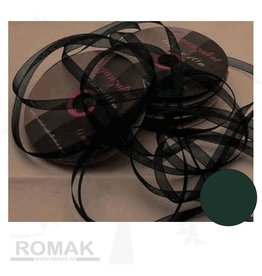 Central Craft Collection 3mm Ribbon Organza Dark Green