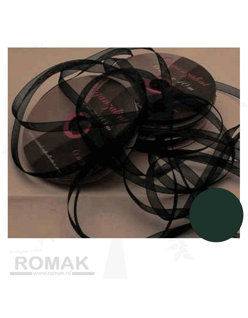 Central Craft Collection 3mm Band Organza Dark Green