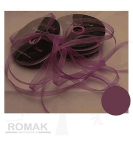 Central Craft Collection Ribbon Organza 6mm Dark lilac