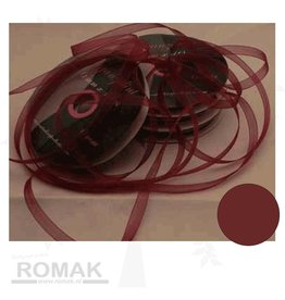 Central Craft Collection Band Organza 6mm Dunkelrot