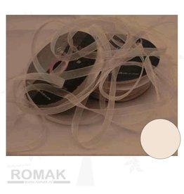 Central Craft Collection Band Organza 6mm Elfenbein