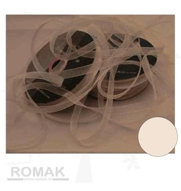Central Craft Collection 3mm Ruban Organza Ivoire