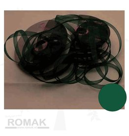 Central Craft Collection 3mm Organza Ribbon Christmas Green