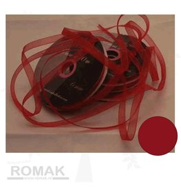 Central Craft Collection Organza de Noël Ruban Rouge 3mm