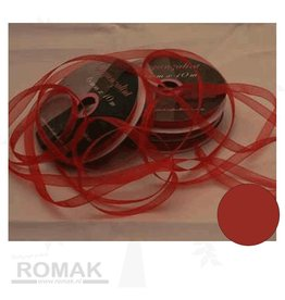 Central Craft Collection 3mm Ruban Rouge Organza