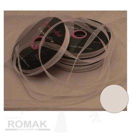 Central Craft Collection 3mm Ruban Blanc Organza