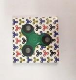 Fidget Spinner green - black