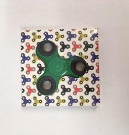 Fidget Spinner grøn - sort
