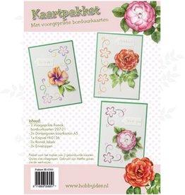 Hobby Idee Broderie carte jeu Floral Hobby Idea