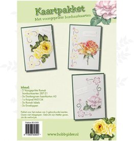 Hobby Idee Embroidery card set Floral Hobby Idea