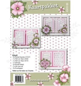 Hobby Idee Karten-Set Floral rosa Hobby Idee