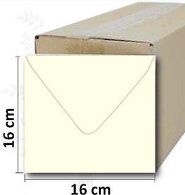Enveloppes crème carré 16 * 16 cm