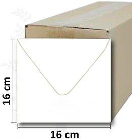 enveloppe blanche carrée 16 * 16cm