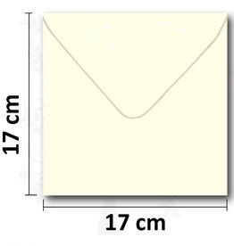 Enveloppe vierkant creme 17*17 cm