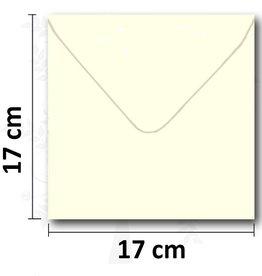 Enveloppes crème carré 17 * 17 cm