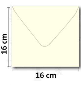 Enveloppe vierkant creme 16*16 cm