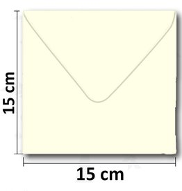 Enveloppe vierkant creme 154*154 mm