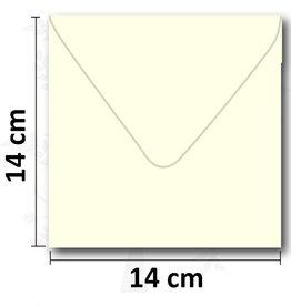 Enveloppes crème carré 14 * 14 cm