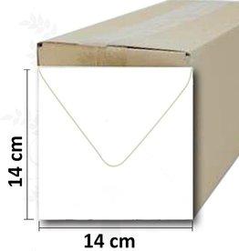 Quadratische weiße Umschlag 14 * 14cm