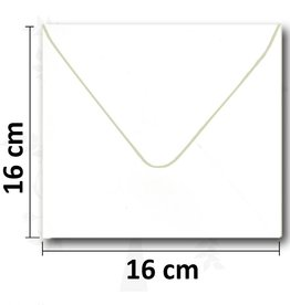 Quadratische weiße Umschlag 16 * 16cm