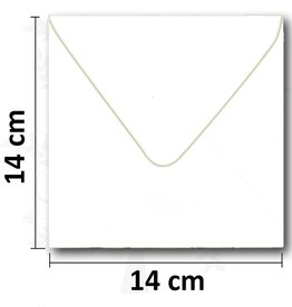 Firkantet hvid kuvert 14 * 14cm