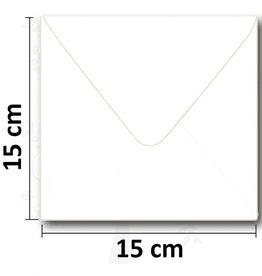 Enveloppe vierkant wit 154*154mm  10 stuks