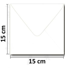 Firkantet hvid kuvert 154 * 154mm