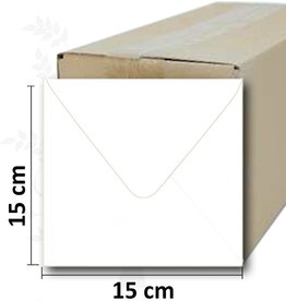 Firkantet hvid kuvert 15 * 15cm