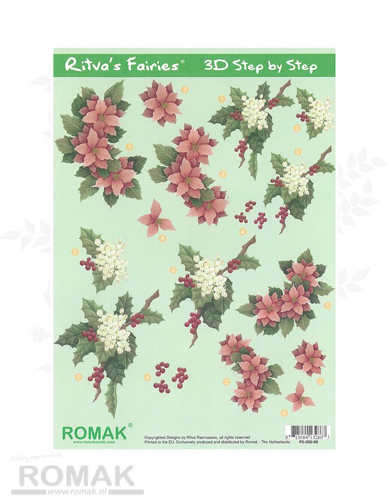 Romak 3D Bogen Romak Ritva Fairies Weihnachten