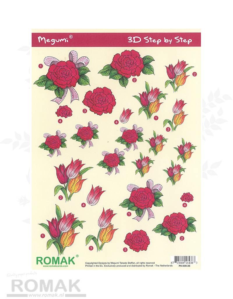Romak 3D Bogen Romak Megumi Blumen