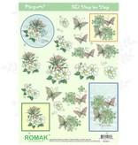 Romak 3D ark Romak Megumi Blomster Sommerfugle