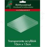 Hobbycentraal Akryl blok 10x 15 cm