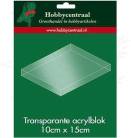 Hobbycentraal bloc acrylique 10x 15 cm