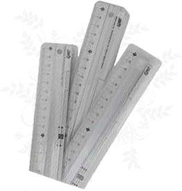 Lineal aluminium 45 cm