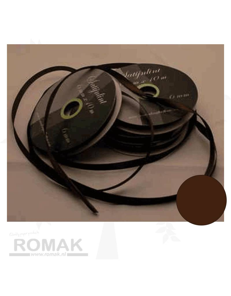 Central Craft Collection 6mm Satin-Band Dark Brown