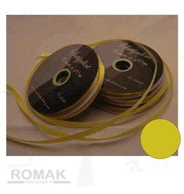 Central Craft Collection 6mm satinbånd Gul