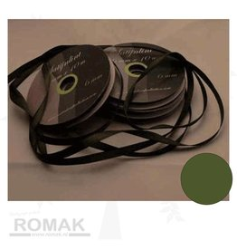 Central Craft Collection 6mm Satin Ribbon Moss