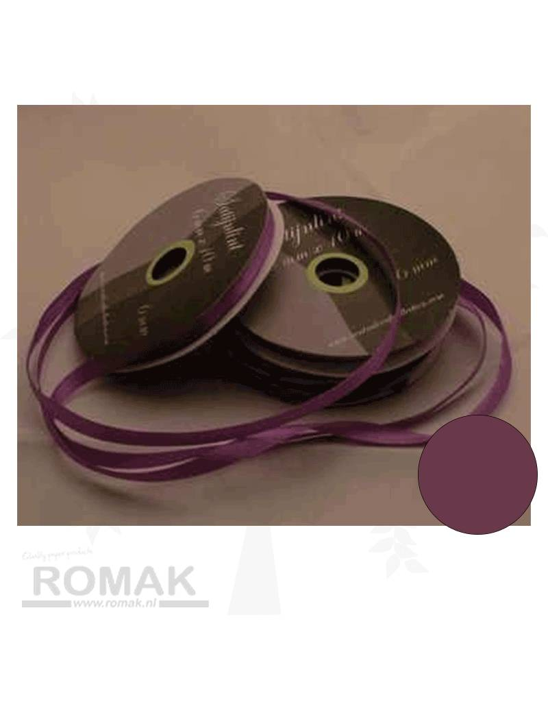Central Craft Collection 6mm Satin-Band-Dunkellila