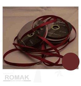 Central Craft Collection 6mm ruban de satin rouge foncé