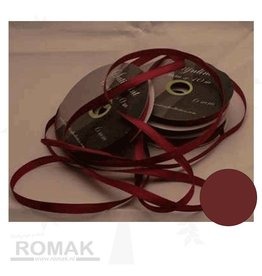 Central Craft Collection 6mm Satijnlint Donker rood