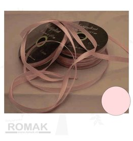 Central Craft Collection 6mm Satin-Band-Baby-Rosa