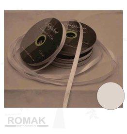 Central Craft Collection 6mm Satin Ruban blanc