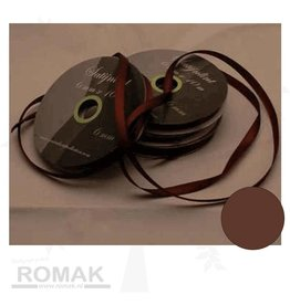 Central Craft Collection 3mm ruban satin Brown