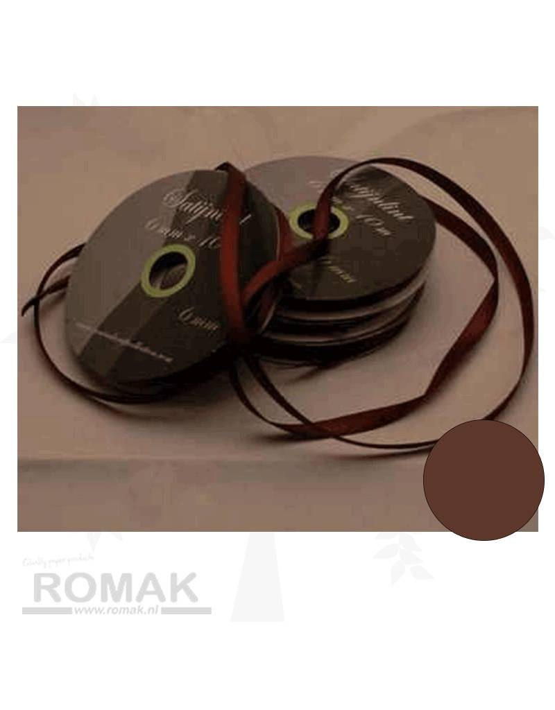 Central Craft Collection 3mm Satin-Band-Brown