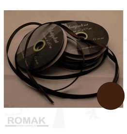 Central Craft Collection 3mm Satin Ribbon Dark Brown