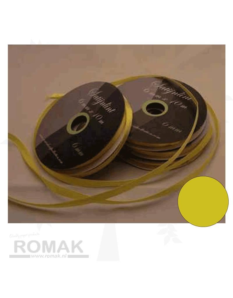 Central Craft Collection 3mm Satijnlint Geel